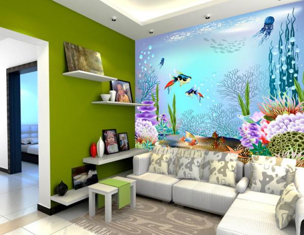 3d рисунок придаст вашей комнате необычный и оригинальный вид