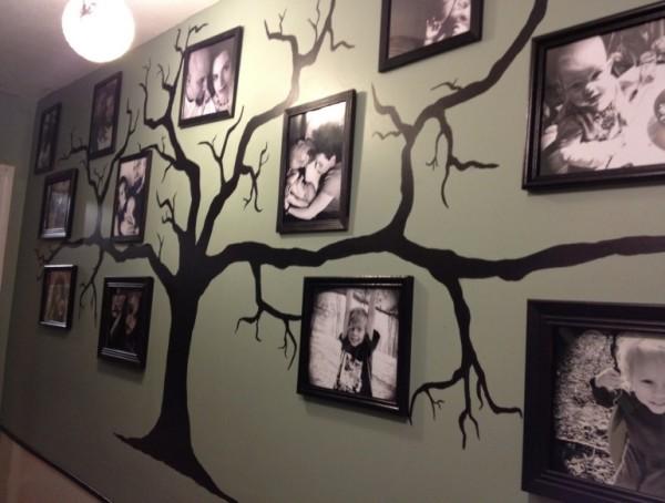 Изображение деревьев на стене является самым универсальным и популярным