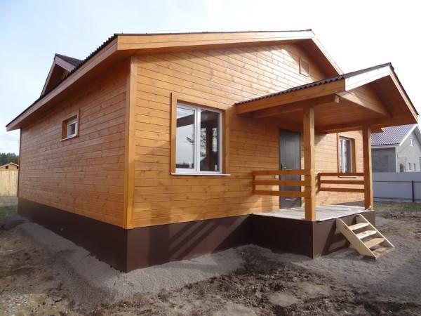 Имитация бруса в отделке деревянного дома