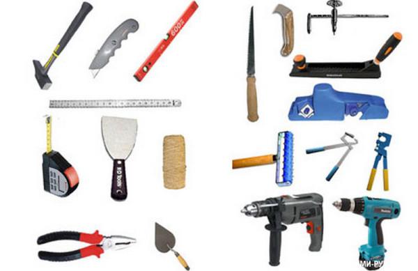 Инструменты, используемые при монтаже обрешетки