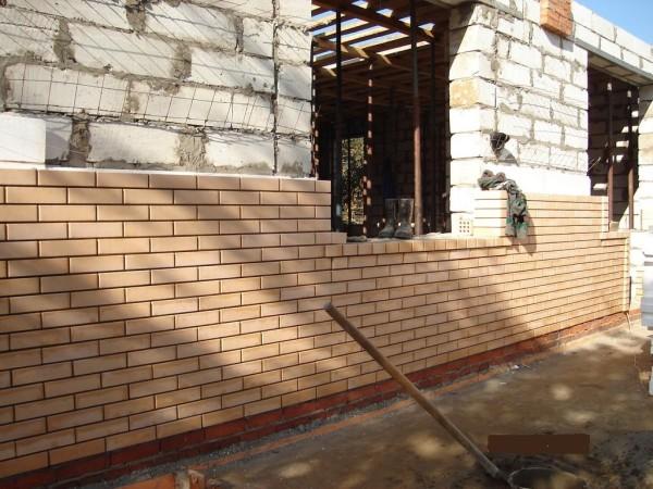 Облицовка кирпичом применяется для улучшения внешнего вида постройки и ее утепления, с применением дополнительных мер