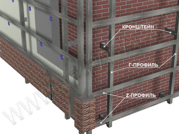 Металлическая конструкция для крепления сайдинга