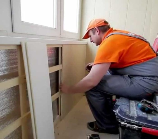 Установка пвх панелей на балконе