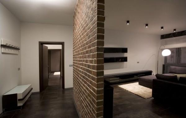 Кирпичная перегородка может красиво вписаться в интерьер вашего помещения