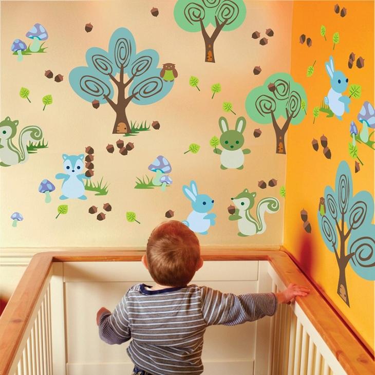 Рисунки дома на стенах своими руками