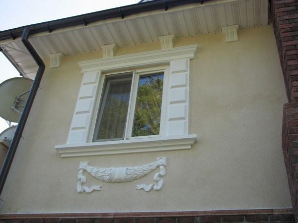 Пример фасадной лепнины