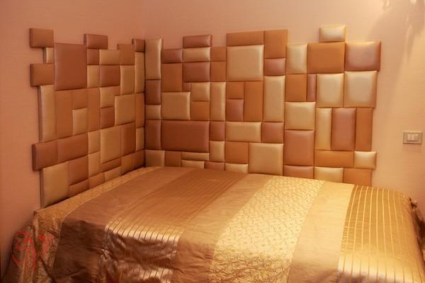 Оригинальное решение по отделке стен тканью