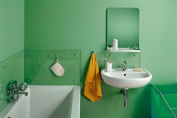 Для покраски ванной комнаты применяется акриловая краска