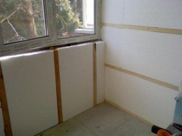 Пенопласт в качестве утеплителя внутри дома