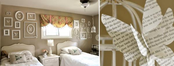 Как можно украсить стену в комнате своими руками бабочками
