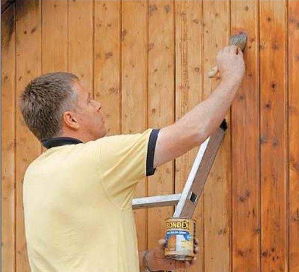Грунтование деревянной поверхности