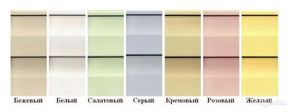 Цветовая палитра сайдинга Vox
