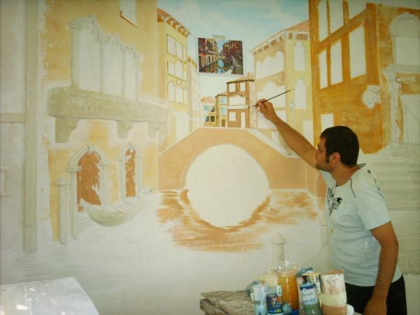 Роспись стен акриловы краски