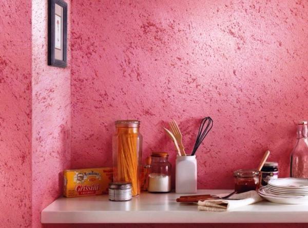 Структурная покраска стен