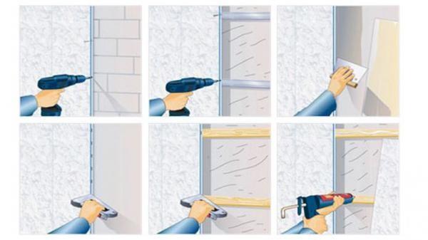 Способы крепления панелей к стене