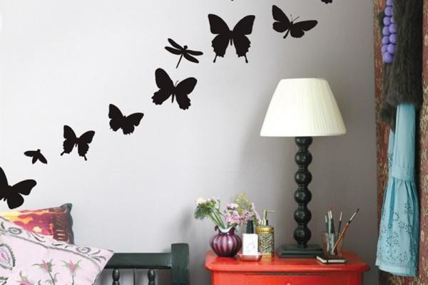 Трафаретный рисунок бабочек