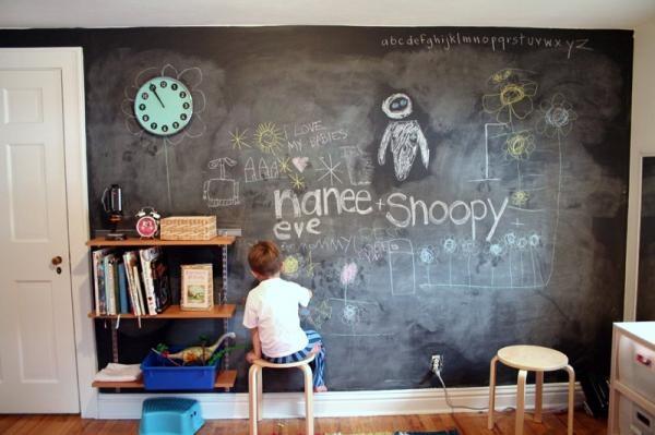 Графитовая краска спасет квартиру от детских клякс