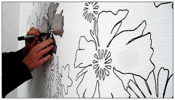 как сделать трафарет для стен своими руками пошаговая инструкция видео