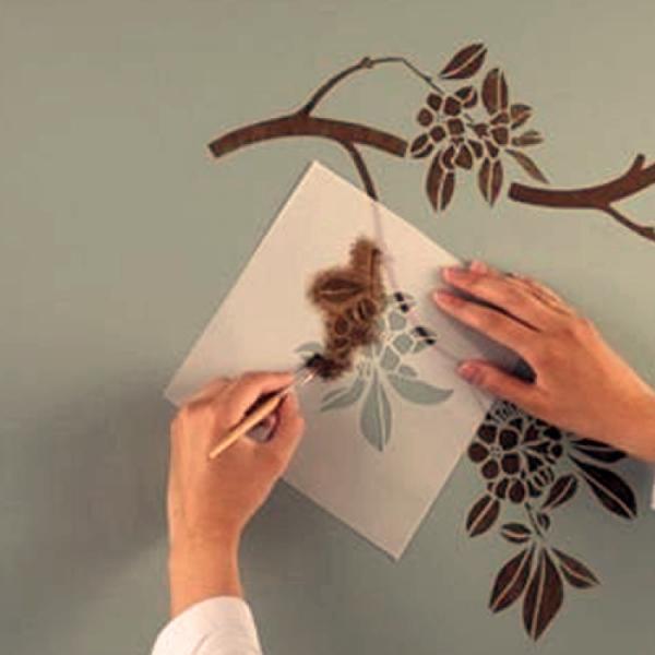 Трафарет на стену для покраски своими руками