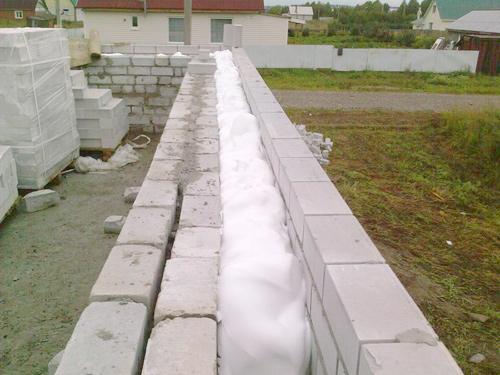 Утепление пустотных стен