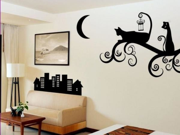 Трафаретный рисунок на стене