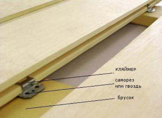 Устройство крепления стеновой панели