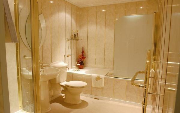Стеновые ПВХ панели в ванной комнате
