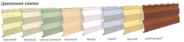 Цветовая гамма сайдинга