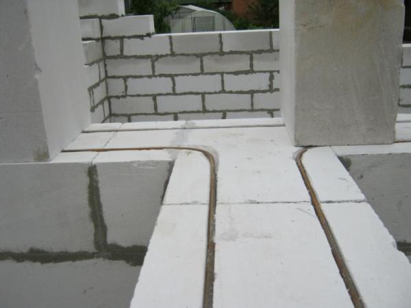 Армирование стен из газобетонных блоков