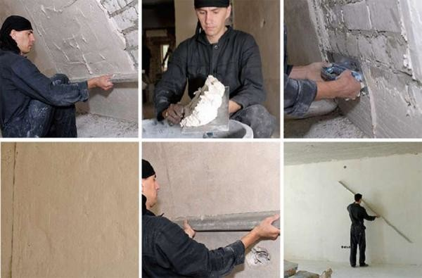 Стену отделанную гипсовой штукатуркой можно выровнять без применения финишной шпаклевки