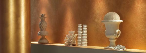 Декоративная краска с имитацией золота