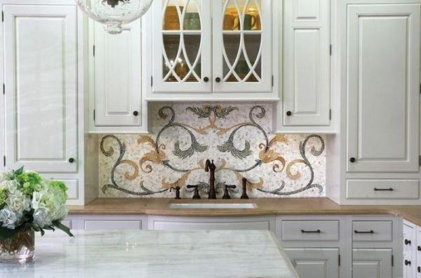 Мозаичное панно на кухне