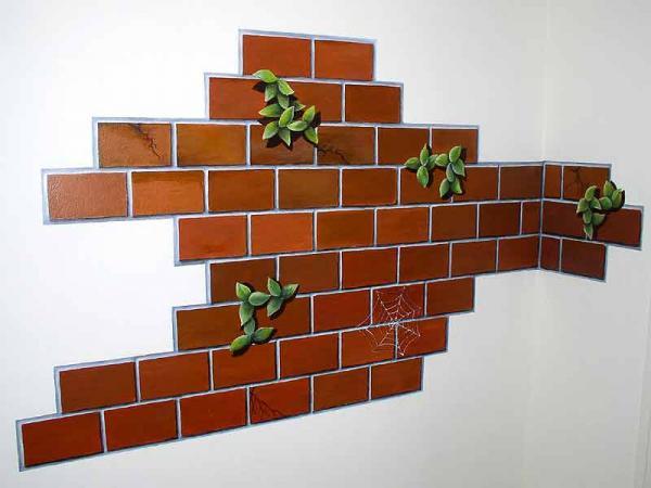 Декор стен кирпичной кладкой