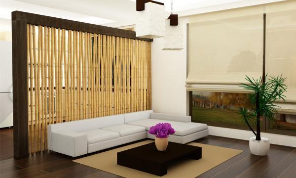 Ширма-перегородка из бамбука
