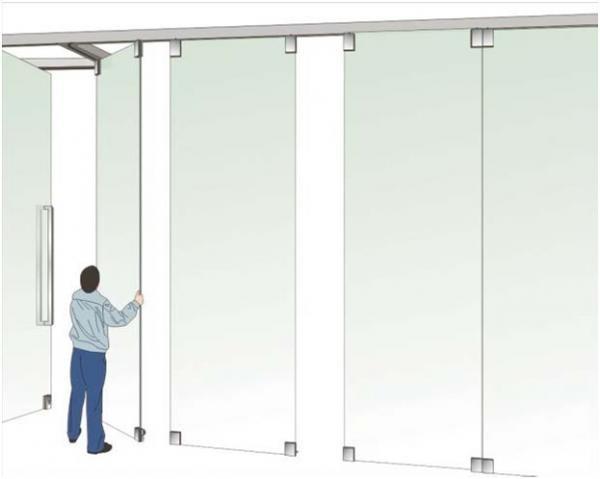 Монтаж стеклянной перегородки