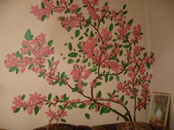 Рисунок птичек на стене