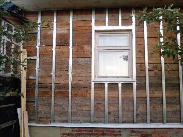 Каркас под фасадные панели