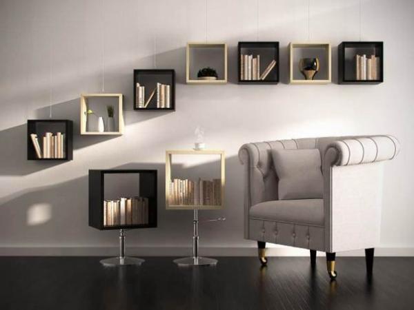 полочки для книг на стену фото