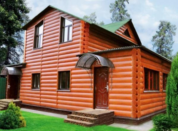 Отделка дома виниловым блок-хаусом