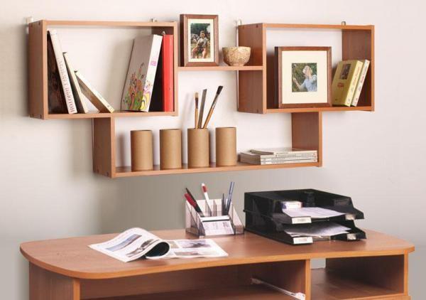 Книжные полки на стену