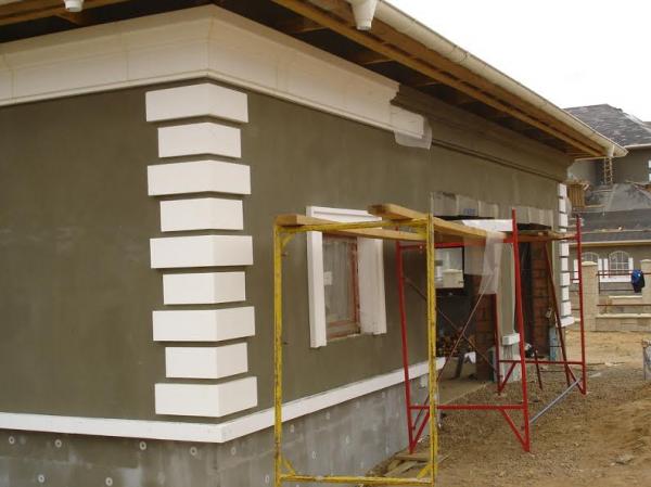 Фасад своими руками из полистирола