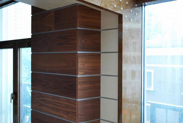 Шпонированные МДФ панели выглядят как настоящая древесина