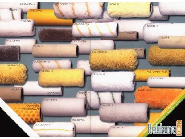 В зависимости от того что и на какую поверхность будем наносить - выбираем шубку для валика