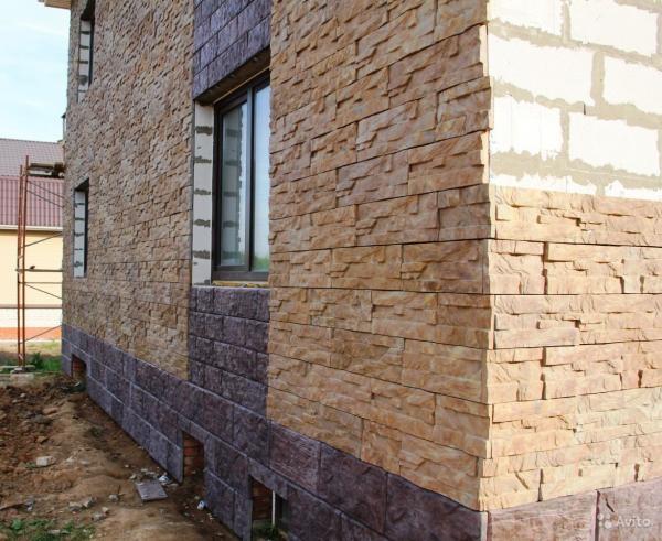 Плитка фасадная под камень