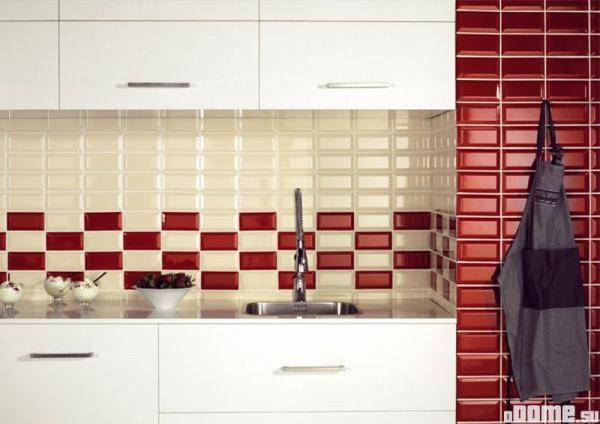 Плитка кабанчик в оформлении рабочей зоны кухни