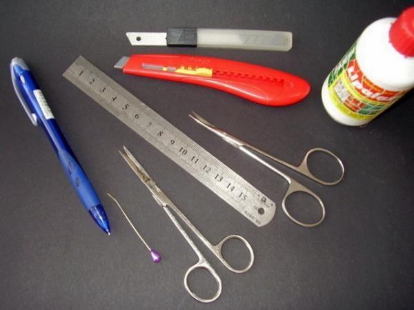 Перечень необходимых инструментов