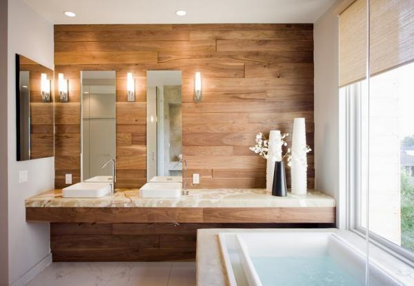 Отделка ванной панелями МДФ