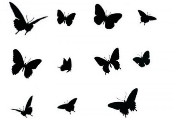 Как сделать бабочек из бумаги своими руками для стены