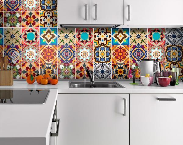 Плитка пэчворк для кухни (44 фото керамическая кухонная)