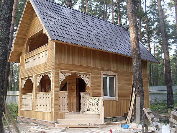 Фото домов обшитых деревянной вагонкой